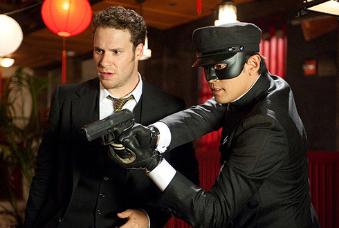 Still shot from the movie: The Green Hornet.