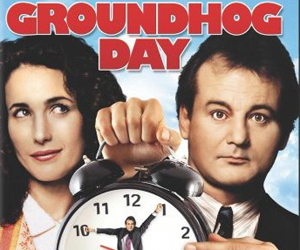 Still shot from the movie: Groundhog Day.