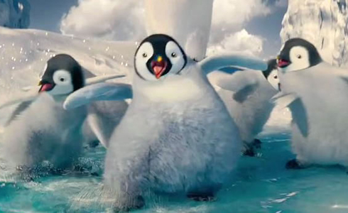 Still shot from the movie: Happy Feet Two.