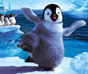 Still shot from the movie: Happy Feet.