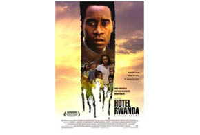 Still shot from the movie: Hotel Rwanda.