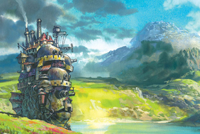 Still shot from the movie: Howl's Moving Castle.