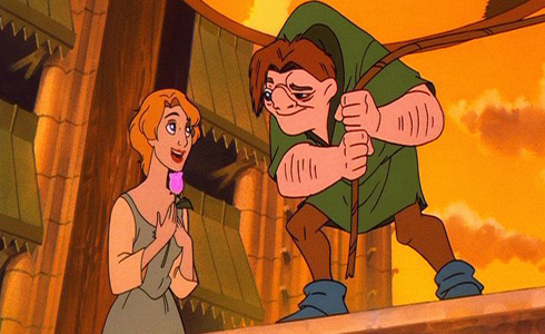 """hunchback and laura Phoebus de martin """"the hunchback of notre dame"""" a new musical based on the  victor hugo novel and songs from the disney film only 5 shows left july 26."""