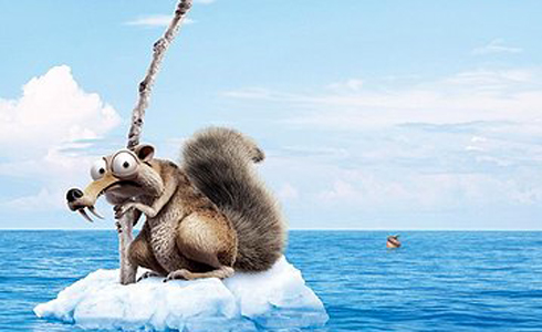 Still shot from the movie: Ice Age: Continental Drift.