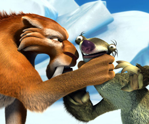 Still shot from the movie: Ice Age 2: The Meltdown.