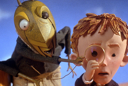 Still shot from the movie: James and the Giant Peach.
