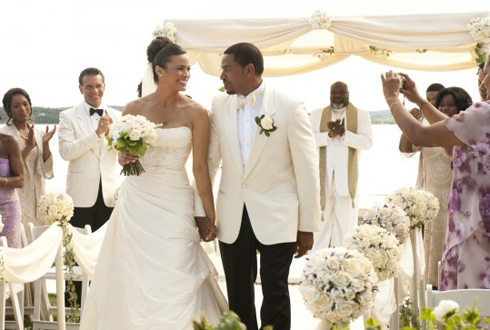 Still shot from the movie: Jumping the Broom.