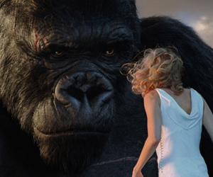 Still shot from the movie: King Kong.