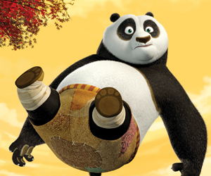 Still shot from the movie: Kung Fu Panda.