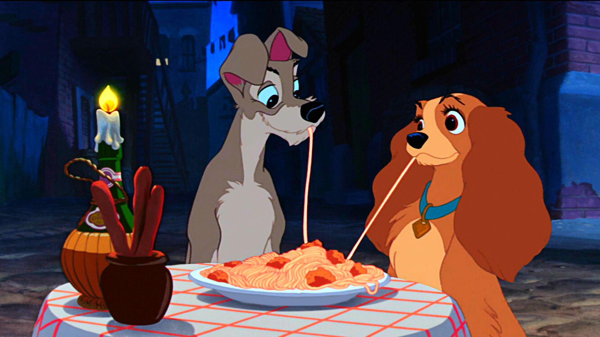 Still shot from the movie: Lady and the Tramp.