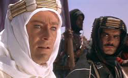 Still shot from the movie: Lawrence of Arabia.