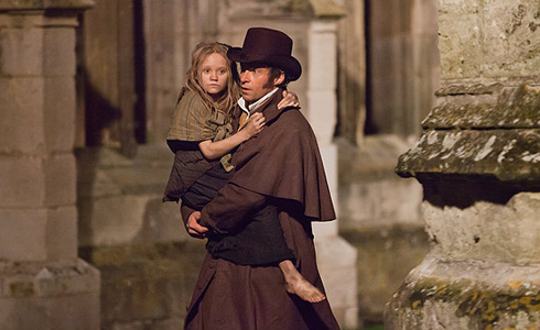 Still shot from the movie: Les Miserables.