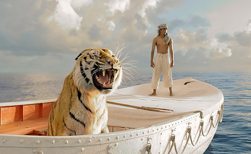 Still shot from the movie: Life of Pi.