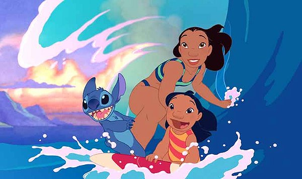 Still shot from the movie: Lilo & Stitch.