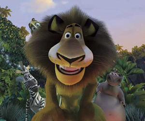 Still shot from the movie: Madagascar.
