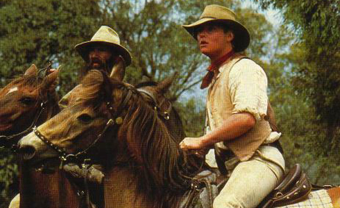 Still shot from the movie: The Man From Snowy River.
