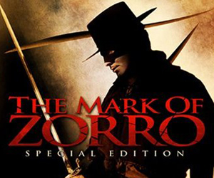 Still shot from the movie: Mark of Zorro.