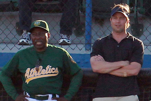 Still shot from the movie: Moneyball.