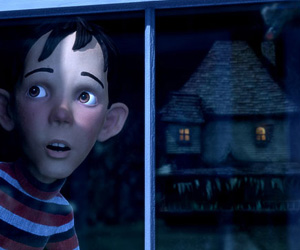 Still shot from the movie: Monster House.