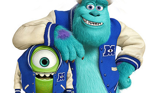 Still shot from the movie: Monsters University.