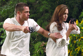 Still shot from the movie: Mr. & Mrs. Smith.
