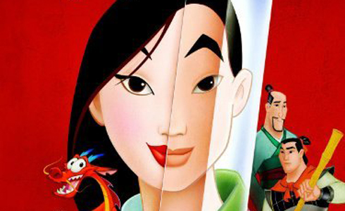 Still shot from the movie: Mulan.