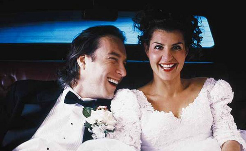 Still shot from the movie: My Big Fat Greek Wedding.