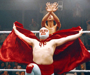 Still shot from the movie: Nacho Libre.