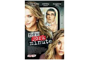Still shot from the movie: New York Minute.