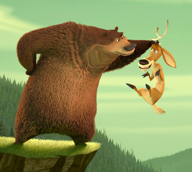 Still shot from the movie: Open Season.