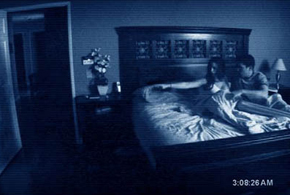 Still shot from the movie: Paranormal Activity.