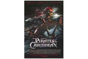Still shot from the movie: Pirates of the Caribbean: The Curse of the Black Pearl.