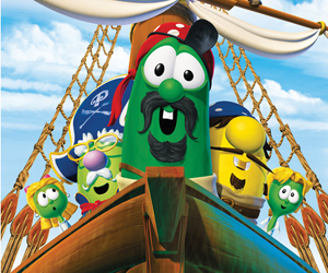Still shot from the movie: Pirates Who Don't Do Anything: A Veggie Tales Movie.