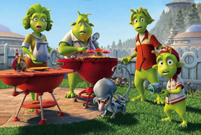 Still shot from the movie: Planet 51.