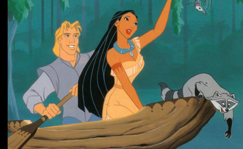 Still shot from the movie: Pocahontas.