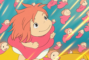 Still shot from the movie: Ponyo.