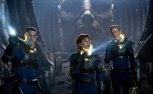 Still shot from the movie: Prometheus.
