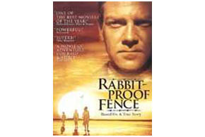 Still shot from the movie: Rabbit-Proof Fence.