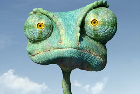 Still shot from the movie: Rango.