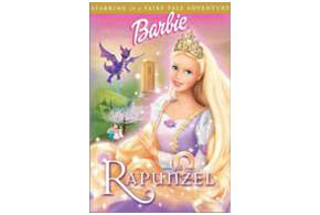 Still shot from the movie: Barbie as Rapunzel.