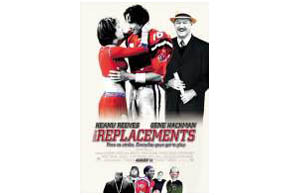 Still shot from the movie: The Replacements.