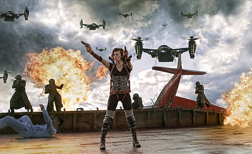 Still shot from the movie: Resident Evil: Retribution.
