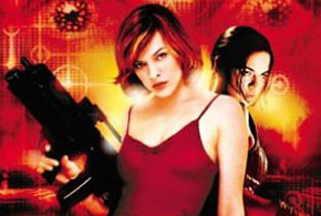 Still shot from the movie: Resident Evil.