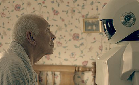 Still shot from the movie: Robot and Frank.