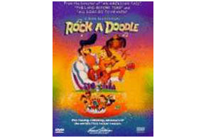 Still shot from the movie: Rock A Doodle.