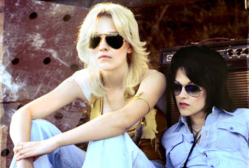 Still shot from the movie: The Runaways.