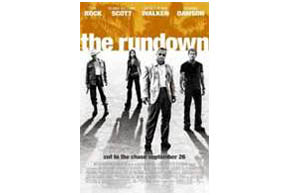 Still shot from the movie: The Rundown.