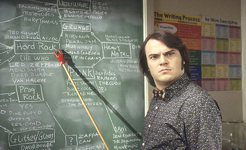 Still shot from the movie: The School of Rock.