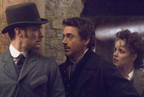 Still shot from the movie: Sherlock Holmes.