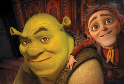 Still shot from the movie: Shrek Forever After.